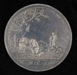 "George Washington Season peace medal with ""Animal Husbandry"" scene"
