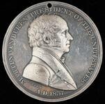 Martin Van Buren peace medal,1st size
