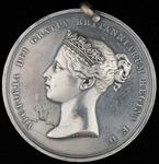 "Silver peace medal stamped ""1860"" and with the crest of the Prince of Wales"