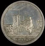 """George Washington peace medal with """"Spinning"""" scene"""