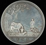"George Washington peace medal with ""Animal Husbandry"" scene"