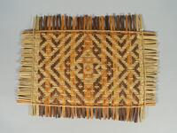 Woven rivercane basketry mat