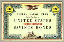 United States Postal Office book of savings bond