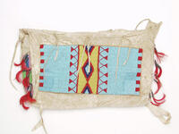 Possible bag with beaded panels