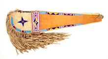 Crow Beaded Crupper for Horse