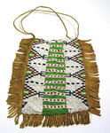 Small beaded bag with stiff fringe