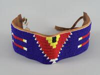 Beaded belt with two buckles