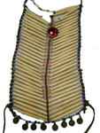 Hairpipe breastplate with a red bike reflector