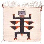 Pictorial rug or throw with Yei design