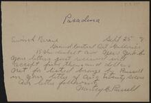 From Nancy C. Russell to Mr. Erwin S. Barrie