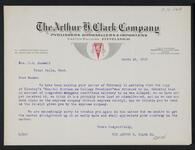 From Arthur H. Clark Co. to Nancy C. Russell