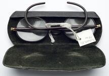Eyeglasses with black leather case