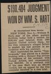 $190,484 Judgment Won by Wm. S. Hart