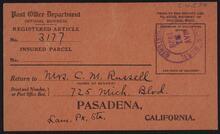 Post Office Receipt