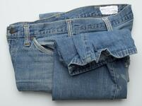 Pair of blue jeans with JCPenney tag