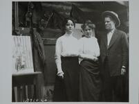 Ella Ironside with Charles M. Russell and Nancy  C. Russell