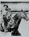 Charles M. Russell and Jack Russell on a horse