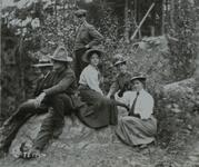 Charles M. Russell and Nancy C. Russell with friends