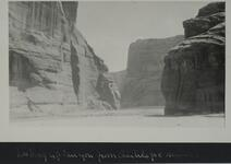 Cliff walls near Antelope ruins in Canyon