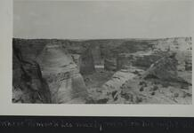 Photograph overlooking a canyon from above