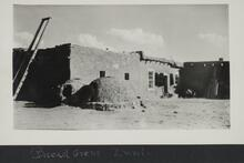 Adobe building with an outdoor oven