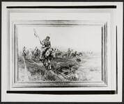 Indians Crossing Plains on Horseback