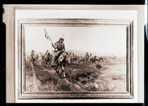 Indians Crossing Plains on Horseback