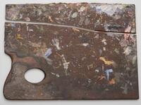 Large rectangular palette broken into two pieces lengthwise