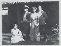 Charles M. Russell and Nancy C. Russell with Unknown Man and Woman