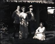 Charles M. Russell and Nancy C.Russell with Unknown Man and Woman