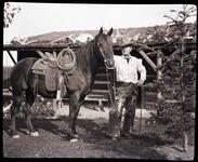 Charles M. Russell with Horse