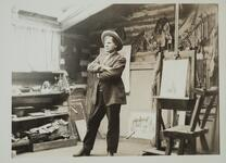 Charles M. Russell in Studio