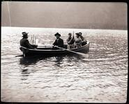 Charles M. Russell and Four Others on a Boat