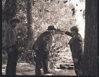 Charles M. Russell and Two Unknown Men