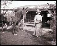 Nancy C. Russell with Horse