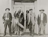 Charles Russell with Three Unknown Men