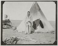 Unknown Man in Front of Tipi