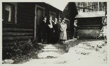 Charles M. Russell and Nancy C. Russell with Three Unknown Women