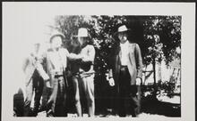 Charles M. Russell and Con Price with Two Men