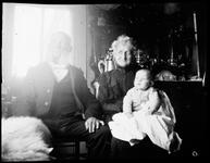 Couple Seated with Baby