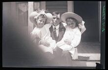 Man with Two Girls
