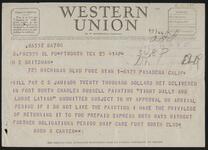 Telegram from Amon G. Carter to H.E. Britzman
