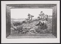 Mounted Cowboys Roping a Bear