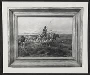 Mounted Trappers Crossing Plains