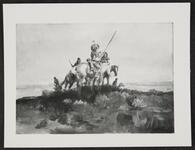 Mounted Indians on Hilltop