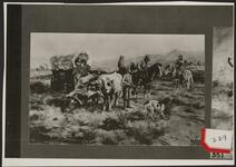 Wagon Train Meeting Native Americans