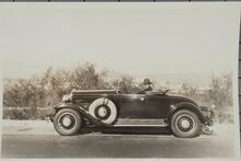 Homer Britzman in 1930s Car
