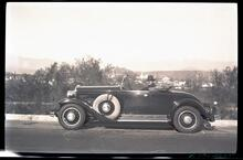 Homer Britzman in 1930s Car