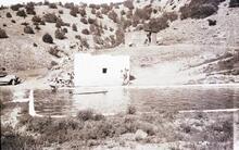Indian Pueblo with Pond