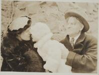 Charles M. Russell and Nancy C. Russell with Jack